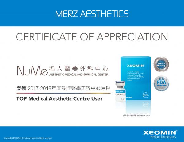 Xeomin-Top-Sales-certificate-17-18